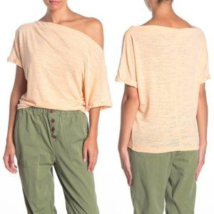 Free People We The Free Apricot Astrid Tee Top NWT